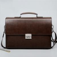 BERAGHINI Business Man Bag Theftproof Lock PU Leather Briefcase For Man Solid Bank OL Mens Briefcase Bag Dress Man Handbag