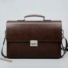 BERAGHINI Business Man Bag Theftproof Lock PU Leather Briefcase For Man Solid Ba