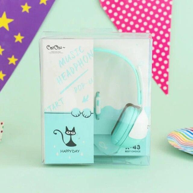 Сибилла X-43 Macarons мультфильм Микрофон Гарнитуры Наушники Для Телефона детей headpset наушники для девочек