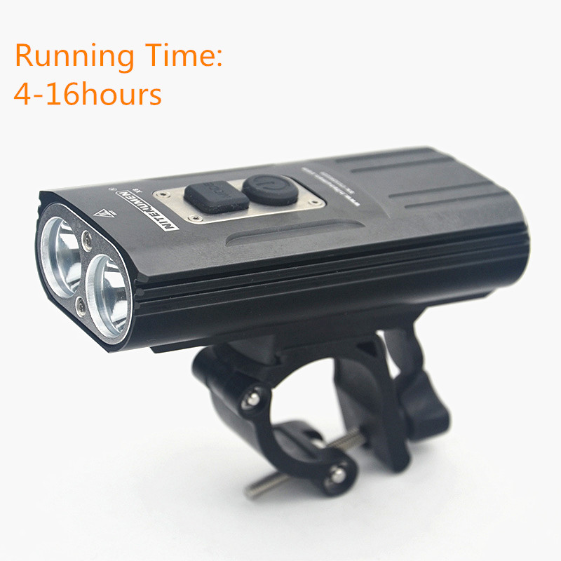 Bicycle USB Charging Headlights Riding Flashlight Waterproof MTB Smart Control #