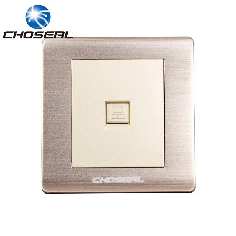 Choseal QD4901 RJ45 Computer Network Socket Aluminium Alloy Single Port Wall Mount Outle ...