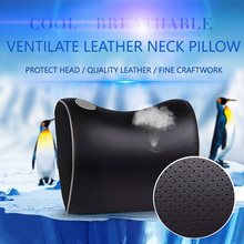 E FOUR Leather Car Neck Pillow Memory Foam Pillow Headrest Neck Support Quality Comfortable Brand New