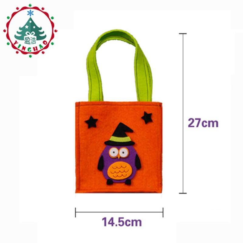 inhove ugle græskar farve taske børn taskebørn børn halloween - Varer til ferie og fester - Foto 2
