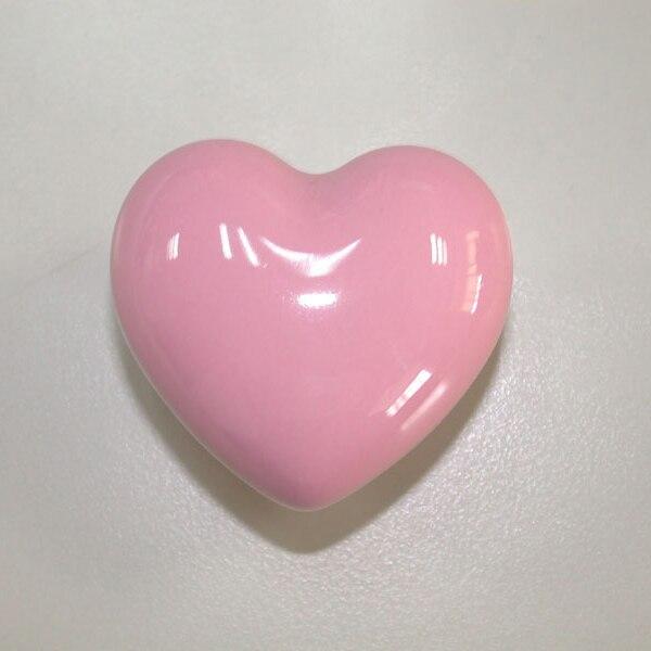 10PCS Popular heart shaped Pink ceramic knob handles cabinet pull ...