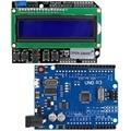 Микро-usb UNO R3 ATmega328P плата для разработки + ЖК-экран 1602 клавиатуры для Arduino