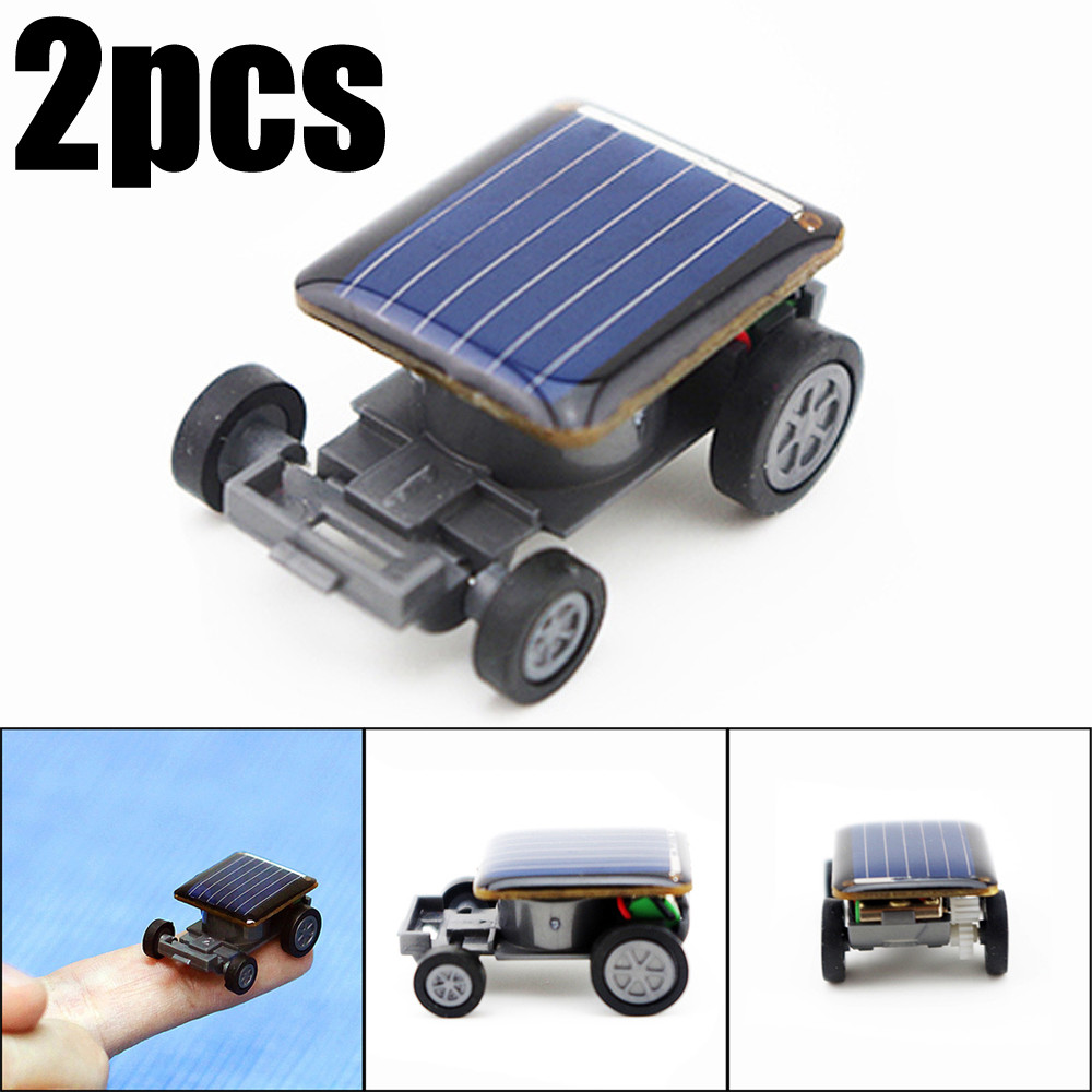 2pcs Smallest Solar Power System Mini Toy Car Racer Kids Toys For Boys Girls Robot Kit Diy Robot Car For Kids Fingerboard Wheels