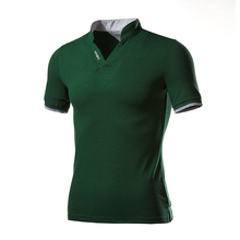 Men Summer Camisa Polo Short Sleeve Shirt Breathable Tees S-5XL