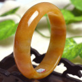 Grade A Natural  Gold Jade Bracelet Bangle Fashion Wide Jade Bangles Pretty Girl's Gift Jewelry 57-59mm inner diameter