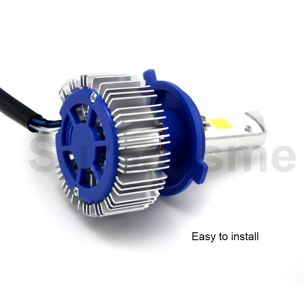 H4 LED Motorcycle Headlight Bulbs easy to install_