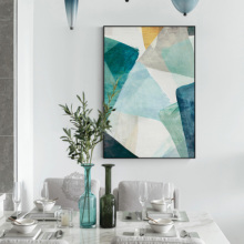 Abstract Geometrical Picture Oil Painting On Canvas Poster Corridor Draws Mural Dining Room Decoration