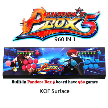 Pandora's box 5 960 in 1 game arcade console usb joystick arcade buttons with light 2 players control machine HD to TV 30% off
