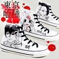 Nuevo Anime de Tokio ghouls Kaneki Ken Cosplay Fans de Alta Del Tobillo Zapatillas de Lona Zapatos de La Venta Caliente