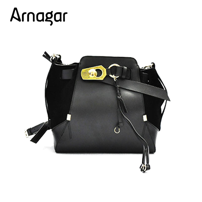 Arnagar Women Genuine Leather Ladies Shopping Tote Bag Black Shoulder Bags Ladies Cross body Bags Large Capacity Handbags designer black shoulder bags women leather handbags ladies cross body bags large capacity ladies shopping bag bolsa