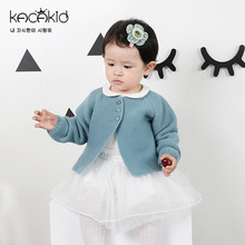 Kacakid Children Baby Girl Sweater Girls boys Candy Color Knitted Cardigan Kids Long Sleeve O-neck Casual Outer Wear