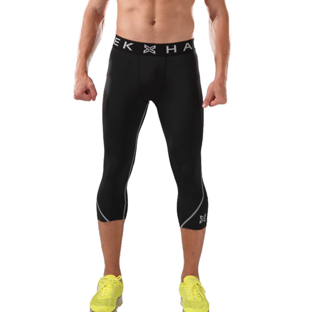 Hombres compression base layer pantalones 3 4 leggings medias de baloncesto  fútbol Deporte Pantalones gimnasio 62e86bf264459