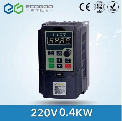 0.4KW inverter VFD 220V VARIABLE FREQUENCY DRIVE INVERTER 1 phase input 3 phase 220V output china cheap wholesale baileigh wl 1840vs heavy duty variable speed wood turning lathe single phase 220v 0 to 3200 rpm inverter driven