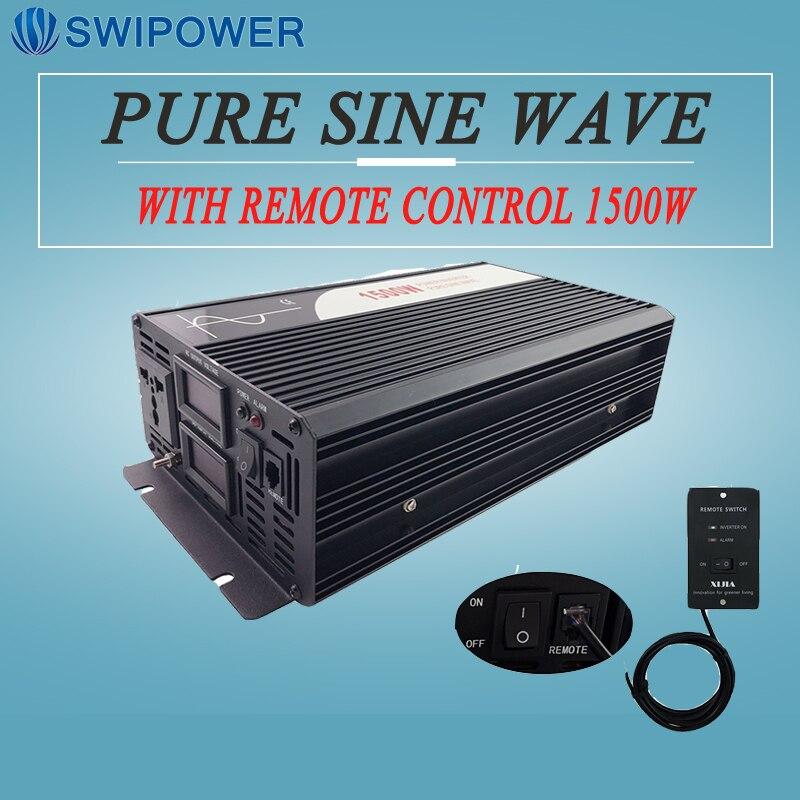 Dc Ac Inverter 1500W Invertitore Puro Dell'onda Di Seno Display Digitale