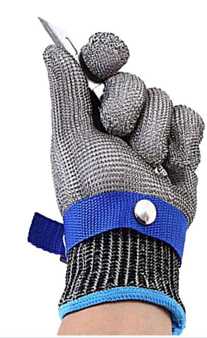 Grade 5 stainless steel wire cut-proof gloves stab-resistant knife-cutting slaughter metal factory gloves cutting protective glo protective gloves stainless steel low temperature protection gloves strong scratch glass knife self defense anti knife gloves