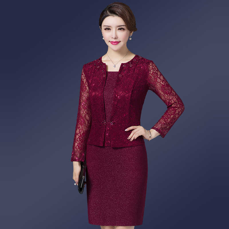 ... It s Yiiya Mother of the Bride Dresses Plus Size O-Neck Full Sleeve Lace  A ... dad308d36fc6