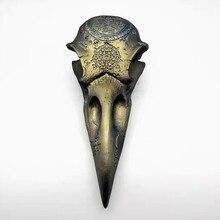3d 크로우 신 두개골 실리콘 몰드 diy 만들기 석고 모델 인테리어 장식 도구 퐁당 초콜릿 식품 금형
