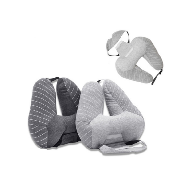Multifunctional U Shape Pillow With Eye Mask Airplane Car Office Sleep Neck Pillow Travel Accessories