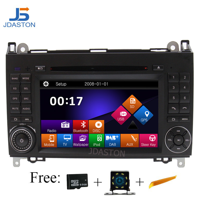 JDASTON 2 Din Car DVD Player for Mercedes Benz B Class W245 B200 B150 B170 Viano Vito W639 With Radio Stereo GPS Navigation MapJDASTON 2 Din Car DVD Player for Mercedes Benz B Class W245 B200 B150 B170 Viano Vito W639 With Radio Stereo GPS Navigation Map
