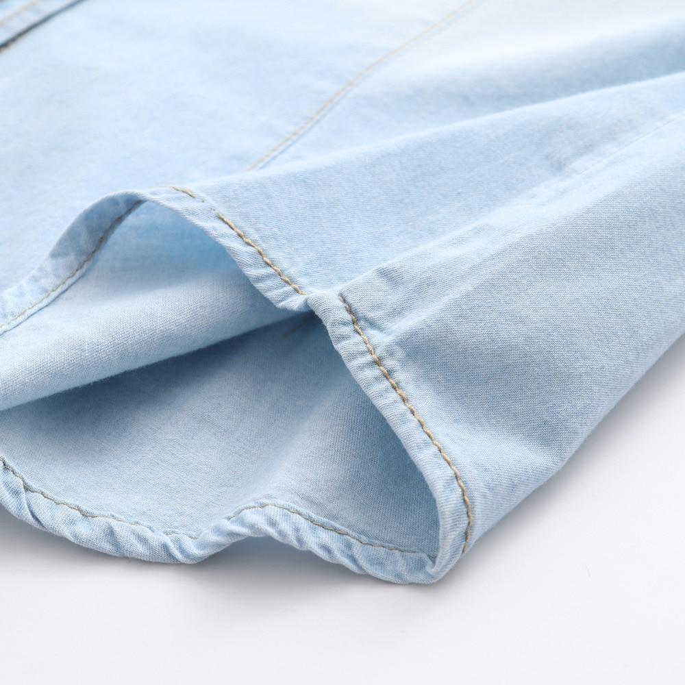 Kvinnors Denim tröja Jeans Skjortor för kvinnor Kärlek Långärmad - Damkläder - Foto 4