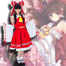 Japanese anime touhou project hakurei reimu hakurei reimu cosplay lolita dress halloween costume envío gratuito
