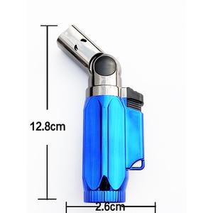 Image 5 - BBQ Lighter Cigar Torch Turbo Lighter Jet Butane Cigarette 1300 C 4 Nozzles Spray Gun Windproof Metal Pipe For Kitchen No Gas