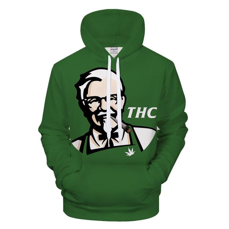 Green Hoodie Man, New Arrival, KFC 3D Print Hoodie, Hip-hop O Collar Hip-hop Street Wear S-6xl Wholesale Hoodie