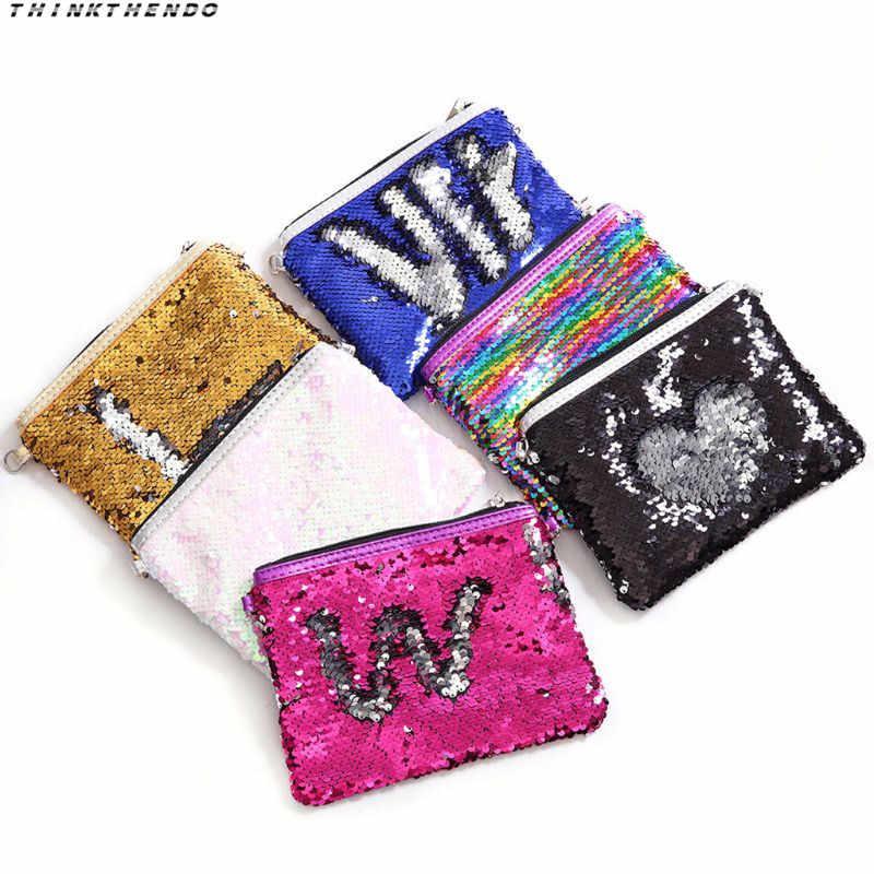 THINKTHENDO модная новинка для женщин и детей, для девочек, маленькая сумочка с блестками, для макияжа, Повседневная сумка через плечо со съемным ремешком