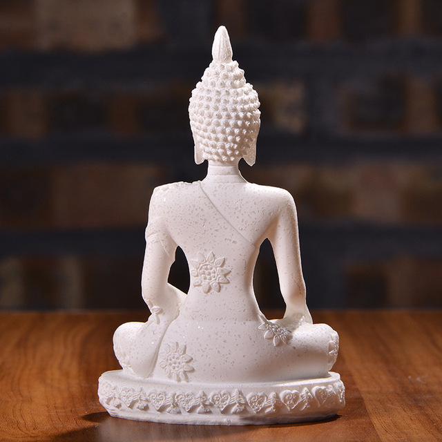 Nordic Style Sandstone Buddha Statue Resin Sculpture Crafts Creative Home Decor Accessories Home Decoration Gift 4