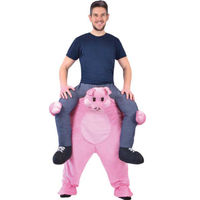 Funny Mascot Costume Ride on Pink pig Costumes Adult Animal Funny Dress Up Fancy Pants Costume