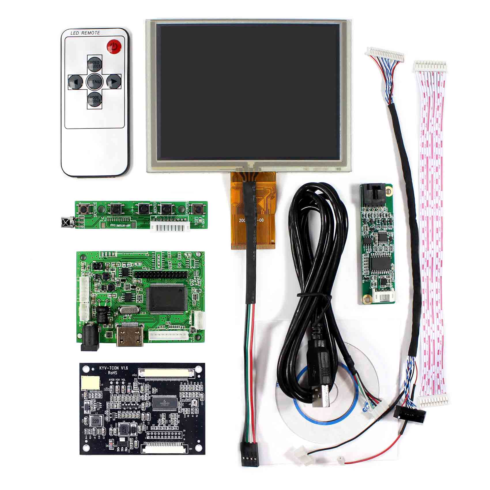 Buy Hdmi Lcd Controller Board Vs 2660h V1 5inch Wiring Bee 640x480 Zj050na 08c With Touch Panel From Reliable Suppliers On
