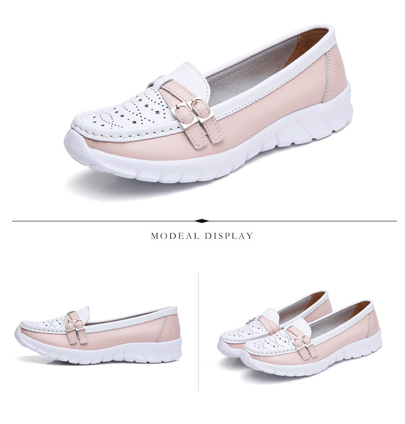 Spring Women Shoes Genuine Leather Handmade Flats Casual Shoes Woman Slip-on Loafers Ballet Flats Ladies Shoes Slipony (6)