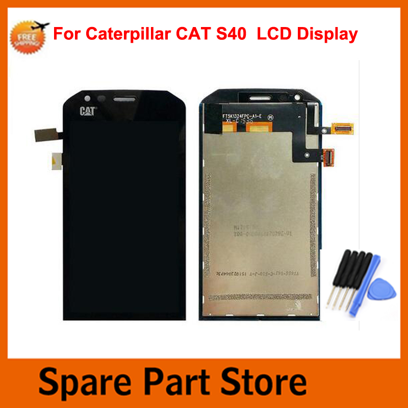 Angcoucoux For Caterpillar Cat S40 Mobile Phone 4.7 LCD Display + Touch Screen Panel Digitizer Assembly Parts+ Free tools