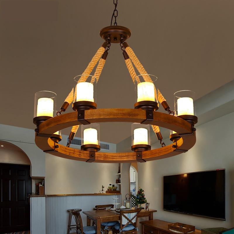 Loft Style Industrial Metallo antler chandelier marmo/Ristorante Lamparas Colgantes cafe bar illuminazione a sospensione