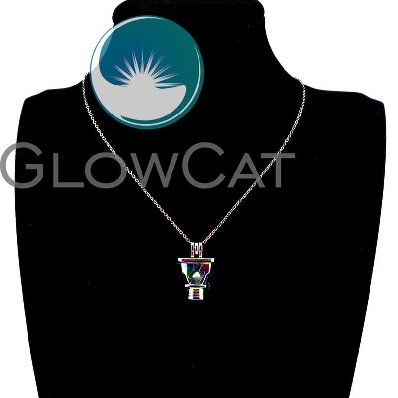 5X-C614 Couleurs Lampe Perles Cage Pendentif Ampoule Perle Cage parfum diffusesr Médaillon
