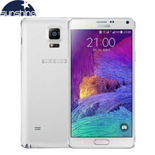 Original Unlocked Samsung Galaxy Note 4 N9100 N910 Mobile Phone 16.0MP 5.7″ Snapdragon 805 3GB RAM 16/32GB ROM NFC Android Phone