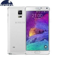 Original Unlocked Samsung Galaxy Note 4 N9100 N910 Mobile Phone 16.0MP 5.7″ Snapdragon 805 3GB RAM 16/32GB ROM NFC Android Phone