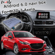 Android 6.0 cuadro de navegación GPS para Mazda 3 Axela con espejo enlace youtube google play video interface box iGO waze yandex