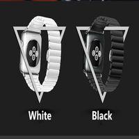 GOOSUU High Quality Luxury Stainless Steel Butterfly Lock Ceramic Bracelet Strap For Apple Watch IWatch Watch