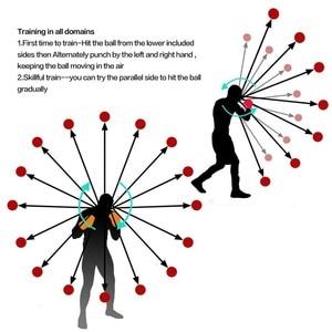 Image 4 - جدير بالاهتمام ركلة الملاكمة منعكس الكرة عصابة رأس سرعة القتال التدريب لكمة الكرة Muay تاي MMA معدات التمرين الملحقات