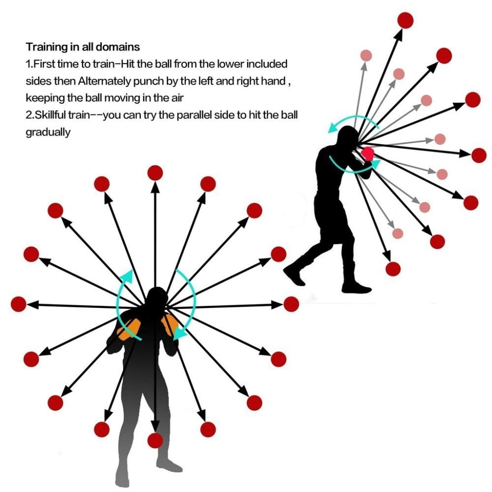 Accesorii de exercițiu pentru boxe cu minge reflexă de box, luptă - Fitness și culturism - Fotografie 4