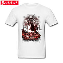 89784fd1f5 Últimas Branco T Camisa Satanás Mal Unicórnio Imagem Ocasional O-pescoço  Tshirt Barato Um Soco Homem Camisa Camisas Engraçadas d.