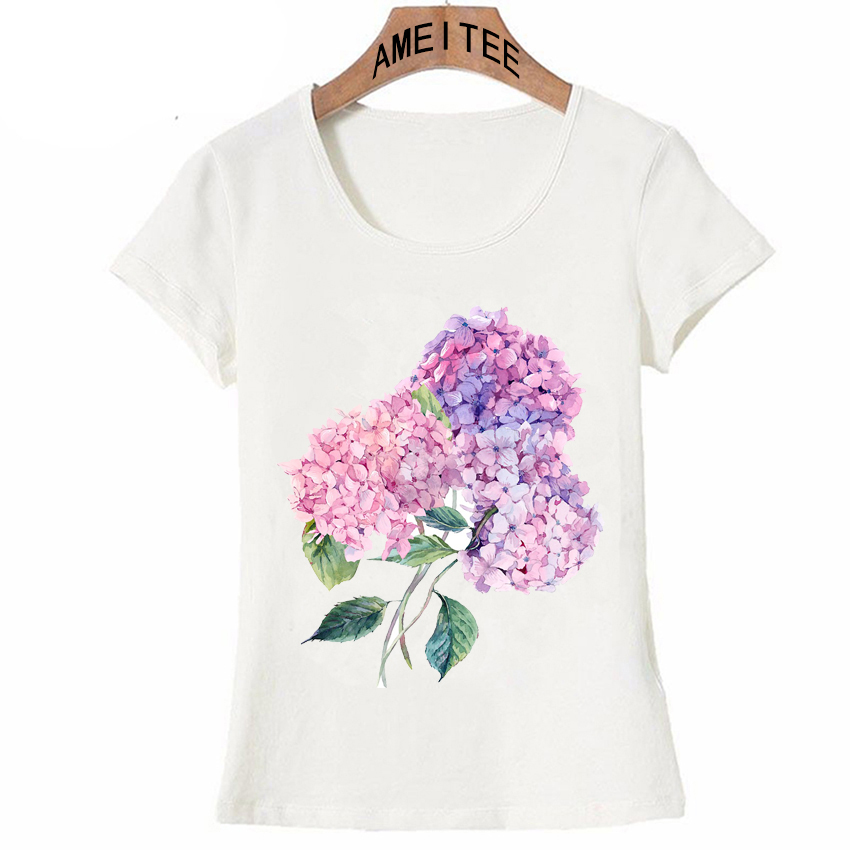 Women's Clothing Learned Fashion Design Romantic Rose Flower T Shirt Women Short Sleeve Customized Tops Famale Novelty Tee