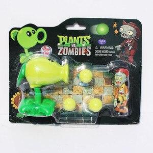 Image 4 - Plantas VS. Figuras de zombis, Peashooter, bomba de cereza de girasol, Snow Pea Chomper, jalapeño, Cactus, Cob Cannon, avión, modelo PVZ, Juguetes