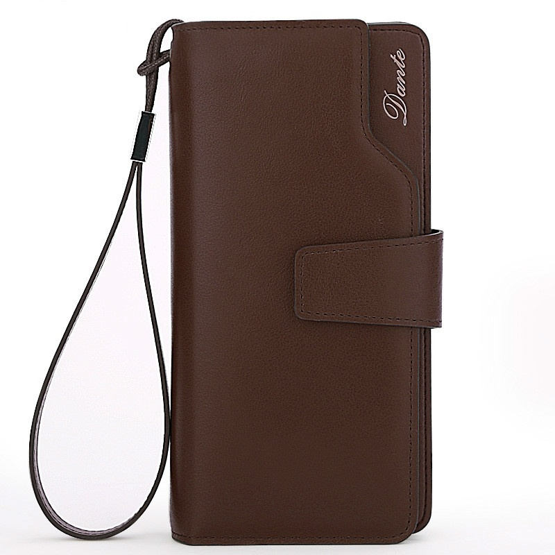100% Genuine Leather Casual Men Wallet High Quality Cowhide Leather Long Solid Men Purse