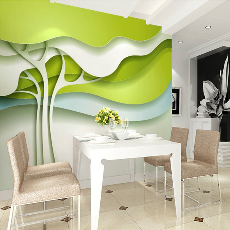 Mural Custom Wallpaper Leaves Modern Minimalist Wall