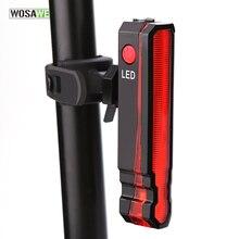 цена на WOSAWE Waterproof Bike Tail Light Safety Warning Bicycle Light USB Rechargeable Cycling Rear Light LED Lamp